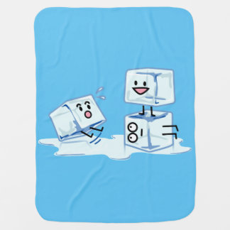 ice cubes icy cube water slipping stack melt cold baby blanket