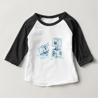 ice cubes icy cube water slipping stack melt cold baby T-Shirt