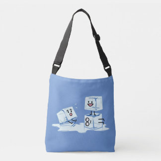 ice cubes icy cube water slipping stack melt cold crossbody bag