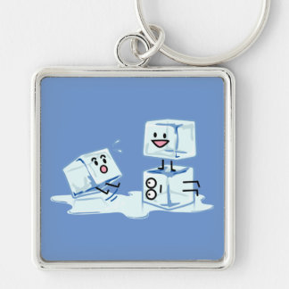 ice cubes icy cube water slipping stack melt cold keychain