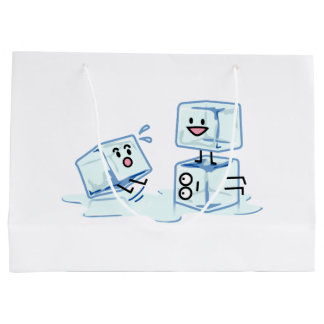 ice cubes icy cube water slipping stack melt cold large gift bag