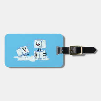 ice cubes icy cube water slipping stack melt cold luggage tag