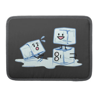 ice cubes icy cube water slipping stack melt cold MacBook pro sleeve