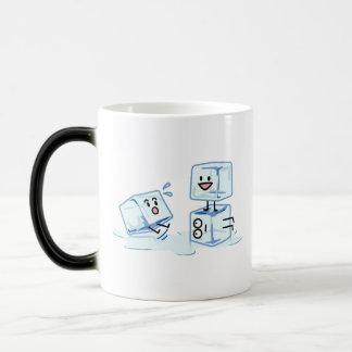 ice cubes icy cube water slipping stack melt cold magic mug