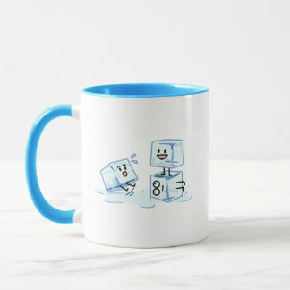 ice cubes icy cube water slipping stack melt cold mug