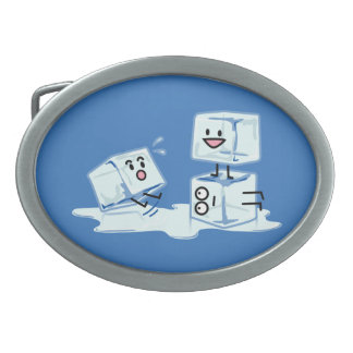 ice cubes icy cube water slipping stack melt cold oval belt buckles