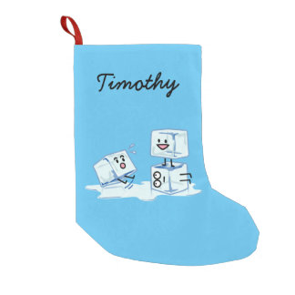 ice cubes icy cube water slipping stack melt cold small christmas stocking