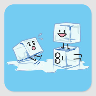 ice cubes icy cube water slipping stack melt cold square sticker