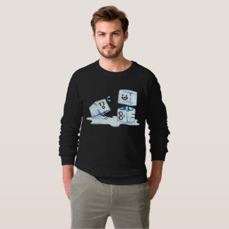 ice cubes icy cube water slipping stack melt cold sweatshirt