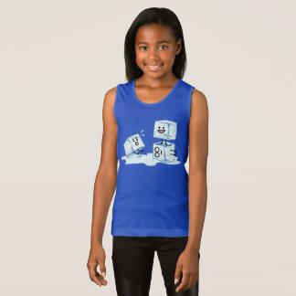 ice cubes icy cube water slipping stack melt cold tank top
