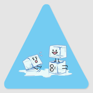 ice cubes icy cube water slipping stack melt cold triangle sticker