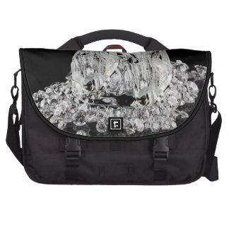 Ice cubes melting into diamonds bag for laptop