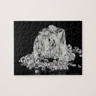 Ice cubes melting into diamonds puzzle