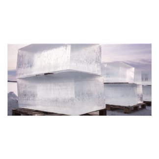 Ice cubes photo greeting card