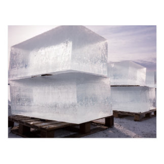 Ice cubes postcard