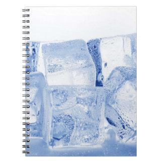ICE CUBES SPIRAL NOTEBOOK