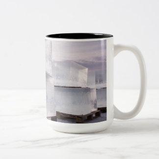 Ice cubes Two-Tone coffee mug