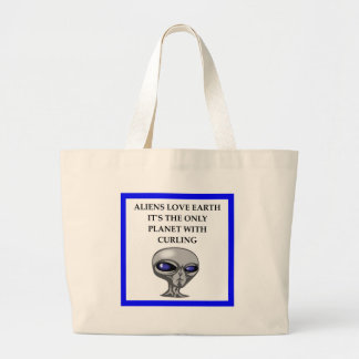 ice curling large tote bag