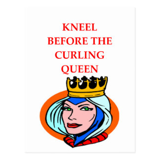 ice curling postcard
