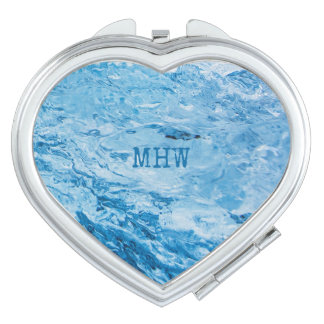 """Ice"" custom monogram compact mirrors"