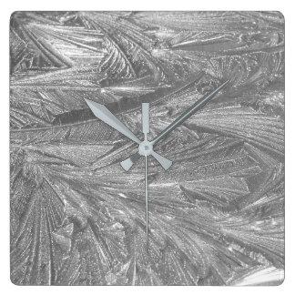 Ice Design on Wall Clock