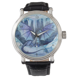 Ice Dragon Fantasy Art by Molly Harrison Wristwatch