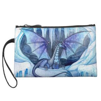 Ice Dragon Fantasy Art Mini Satin Clutch Purse