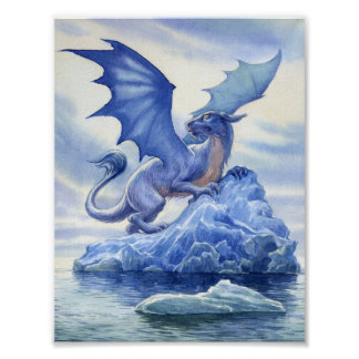 Ice Dragon Mini Poster