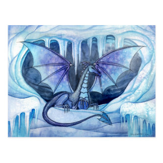 Ice Dragon Postcard by Molly Harrison