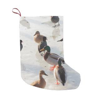 ice ducks small christmas stocking
