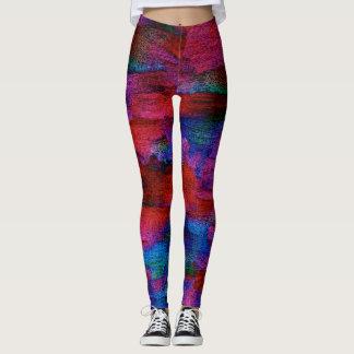 Ice Dye Textile Art Leggings