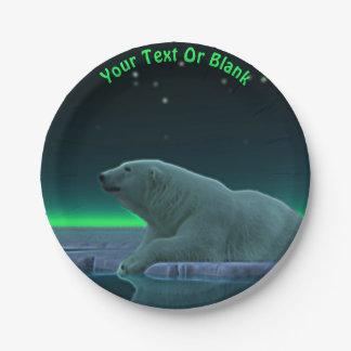 Ice Edge Polar Bear Paper Plate