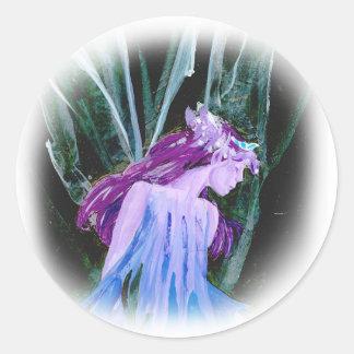Ice Faerie Round Sticker