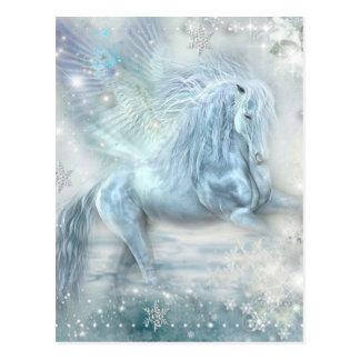 Ice Fantasy Pegasus Postcard