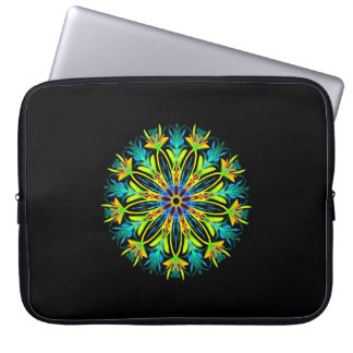 Ice fire electric mandala laptop sleeve