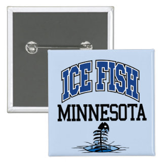 Ice Fish Minnesota 2 Inch Square Button
