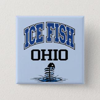 Ice Fish Ohio 2 Inch Square Button