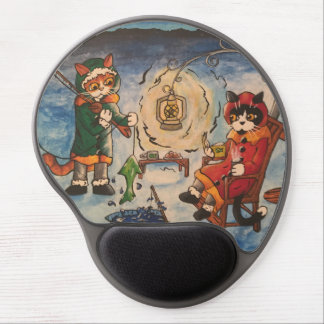 Ice Fishing at Night Gel Mouse Pad