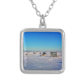 Ice Fishing collectin Silver Plated Necklace