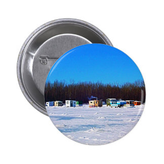 Ice Fishing collection 2 Inch Round Button
