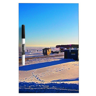 Ice Fishing collection Dry Erase Board