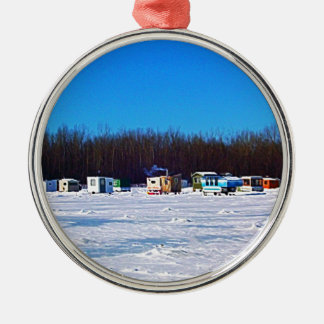 Ice Fishing collection Metal Ornament