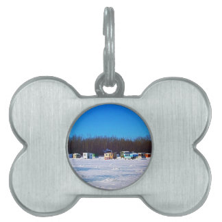 Ice Fishing collection Pet ID Tag