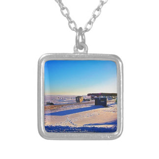 Ice Fishing collection Silver Plated Necklace
