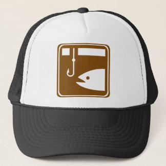 Ice Fishing Highway Sign Trucker Hat