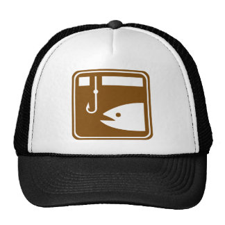 Ice Fishing Highway Sign Trucker Hat