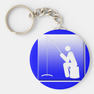 Ice Fishing Logo Keychain