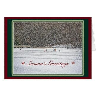 Ice Fishing Season's Greetings Card