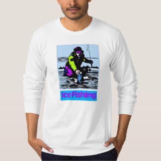 Ice Fishing w fish T-Shirt