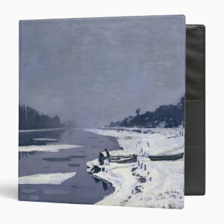 Ice floes on the Seine at Bougival, c.1867-68 3 Ring Binder